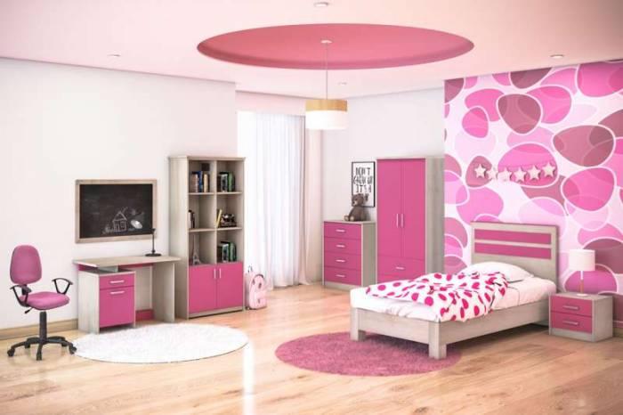 Pat de o persoană Looney Pink 100x200