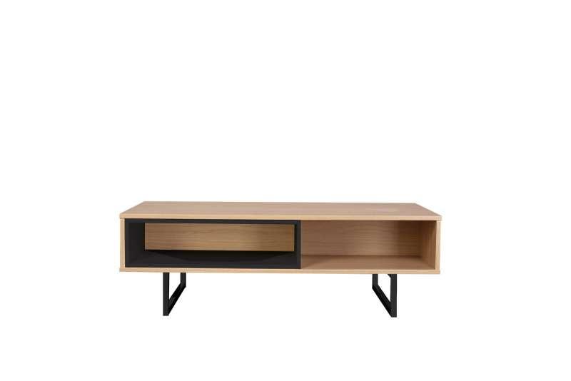 Comodă televizor Nashville, 38x110x55 cm, lemn, maro/ negru imagine