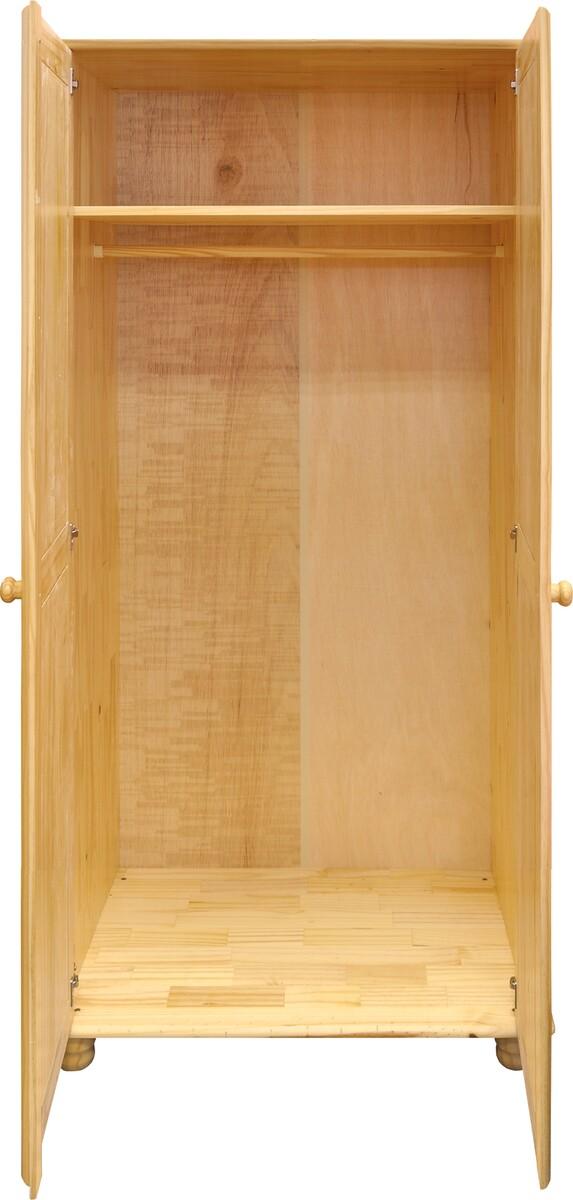 Dulap pentru haine, 2 uși Raven, 170x82x52 cm, lemn, maro