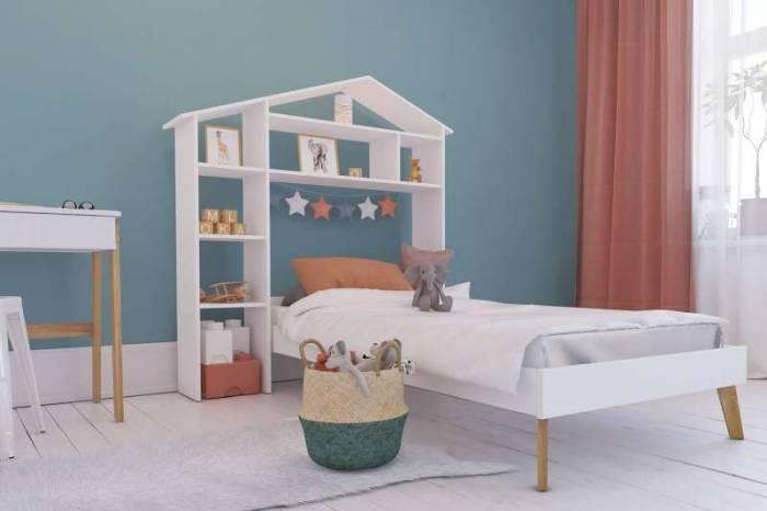 Etajeră pentru camera copilului Sara, 155x148x31 cm, lemn/ mdf, alb