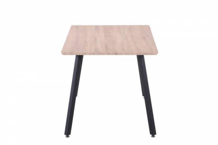 Masă de dining Hanna, 75x140x80 cm, mdf/ metal, maro/ negru