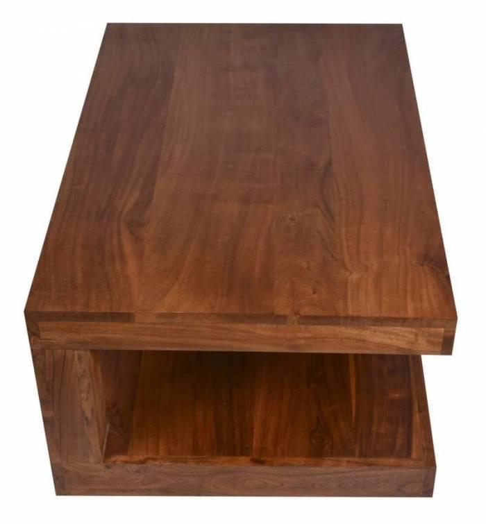 Măsuță de cafea, cu nișă Acacia, 43x43x30 cm, lemn, maro