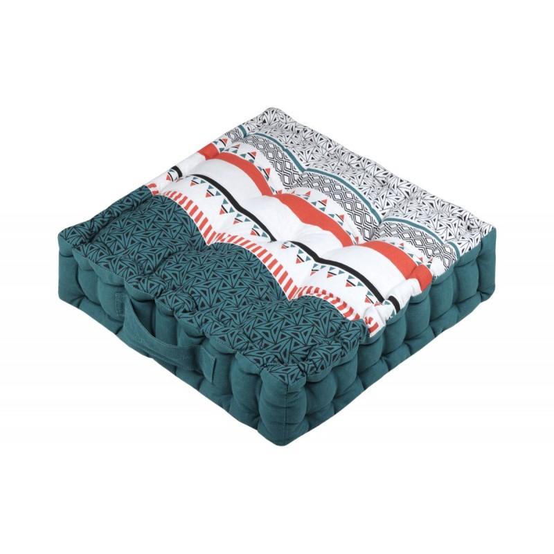 Pernă turcoaz de podea Niro Canard 45x45x10 cm poza