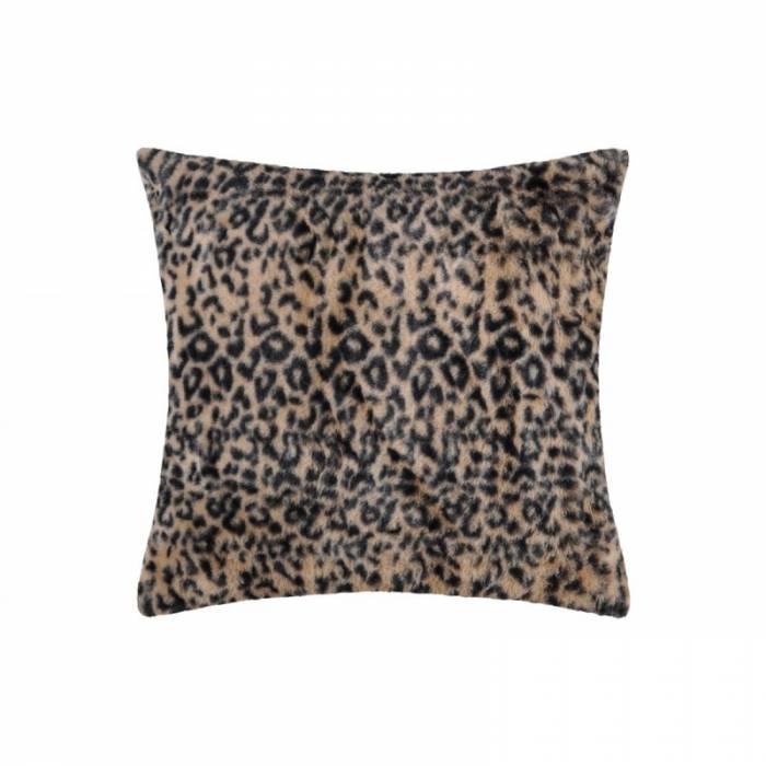Pernă animal print Leopard Jangal Fauve 45x45 cm