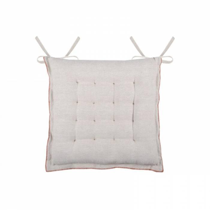 Pernă de scaun din bumbac Cabourg 40x40 cm