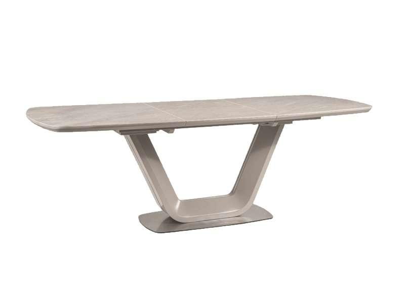 Masă extensibilă Armani, 160/220x90x75 cm, mdf/ceramică/metal, gri poza