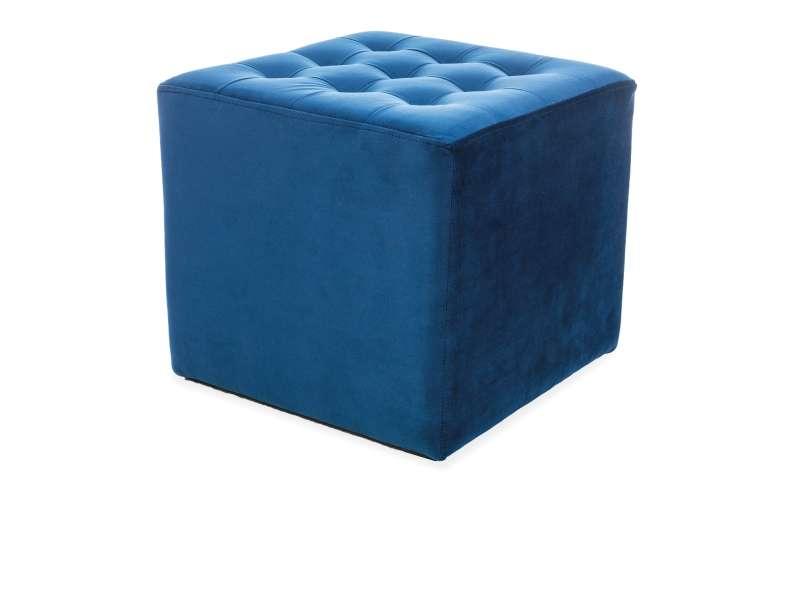 Taburet Lori, 34x39 cm, catifea, bleumarin poza