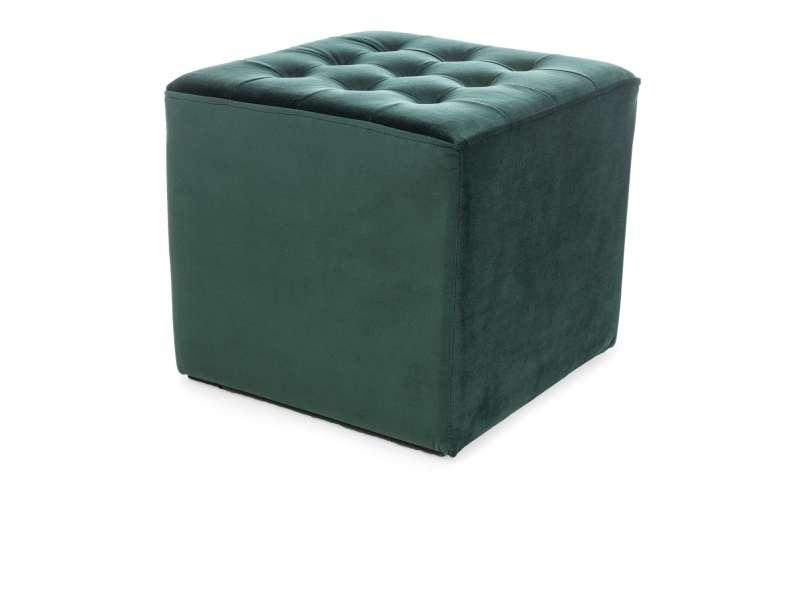 Taburet Lori, 34x39 cm, catifea, verde poza