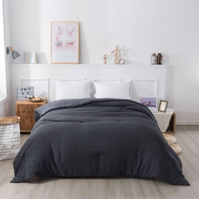 Cuvertură de pat gri închis Century 230x250 cm