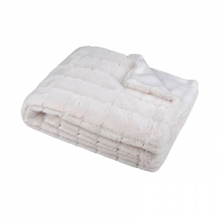 Pătură albă pufoasă Hamilton Blanc 130x150 cm
