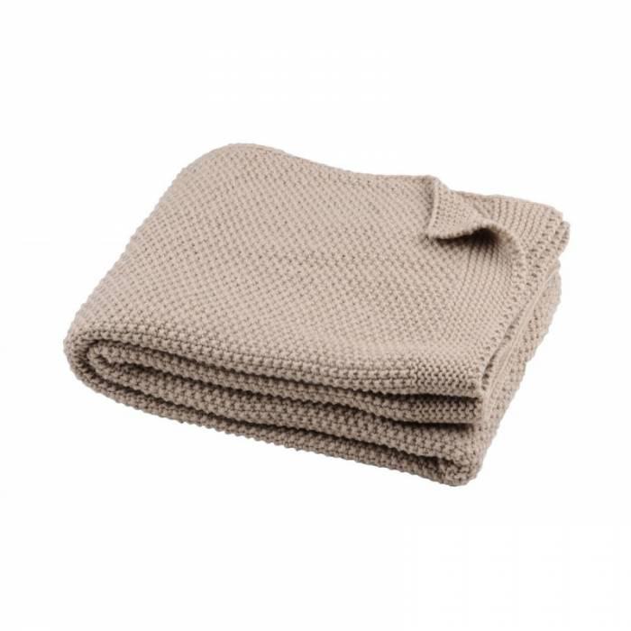 Pătură croșetată Elliot Ficelle 130x160 cm