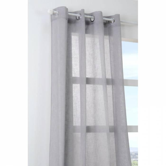 Perdea gri confecționată Paloma Gris 140x260 cm