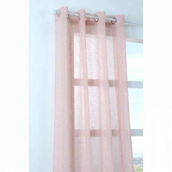 Perdea roz confecționată Paloma Rose 140x260 cm