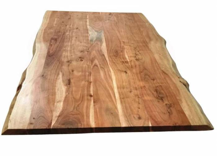 Masă de dining configurabilă Freya Acacia 36 mm, lemn/metal
