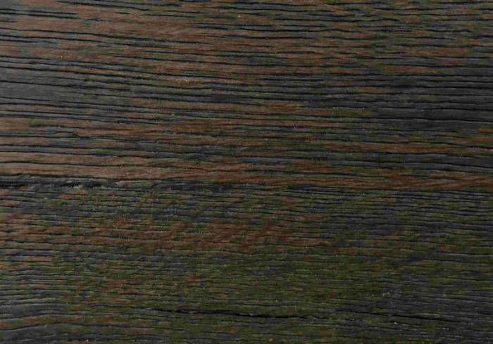 Masă de dining Freya Carbon Oak, 75x100x180 cm, lemn/ metal, gri/ negru - OLD