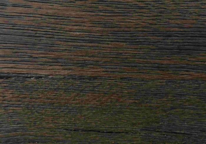 Masă de dining Freya Carbon Oak, 75x100x240 cm, lemn/ metal, gri/ negru - OLD