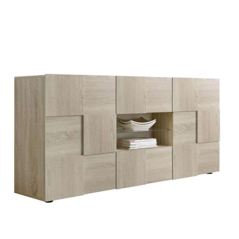 Bufet Bramon, 84x42x180 cm, melamină, maro poza