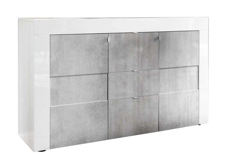 Bufet Build, 84x42x138 cm, melamină, gri poza