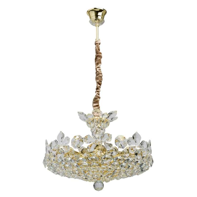 Candelabru auriu cu cristale Laura poza