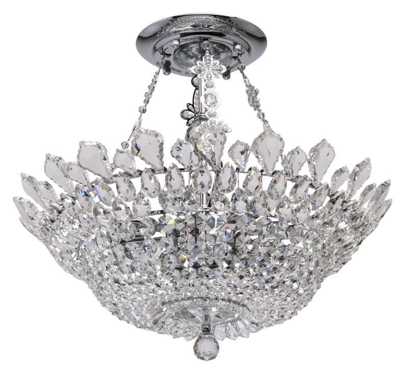 Candelabru clasic cu cristale decorative Auxerre poza