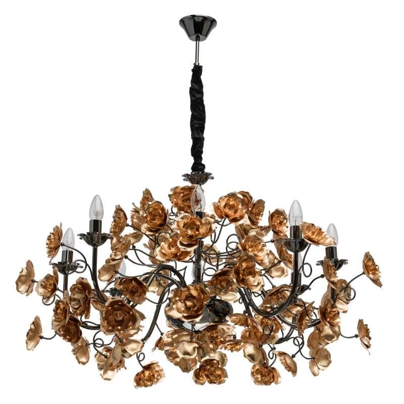Candelabru metalic floral Rosenheim poza