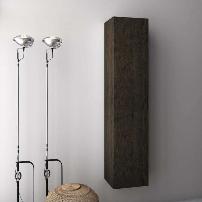 Dulap suspendat de baie Malmo, 160x32x34 cm, melamină, maro poza