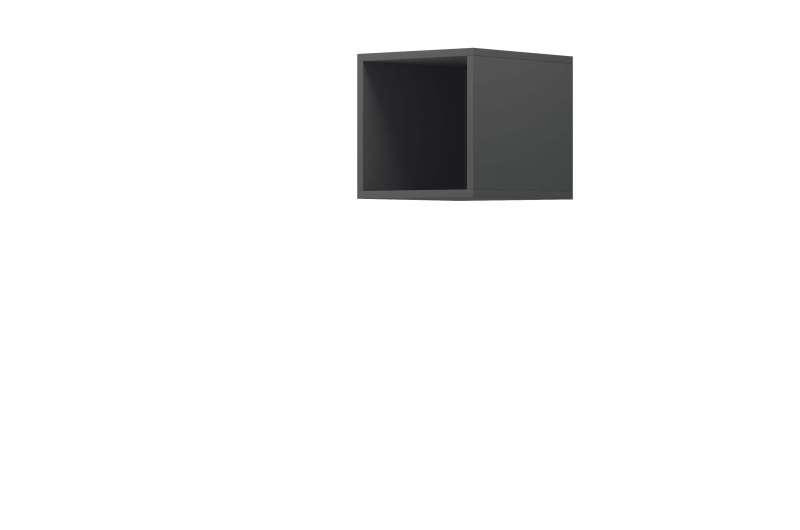 Raft cubic Curtis, 30x30x35 cm, pal, gri poza