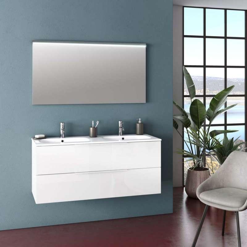 Set mobilier pentru baie Malmo White 3 piese poza