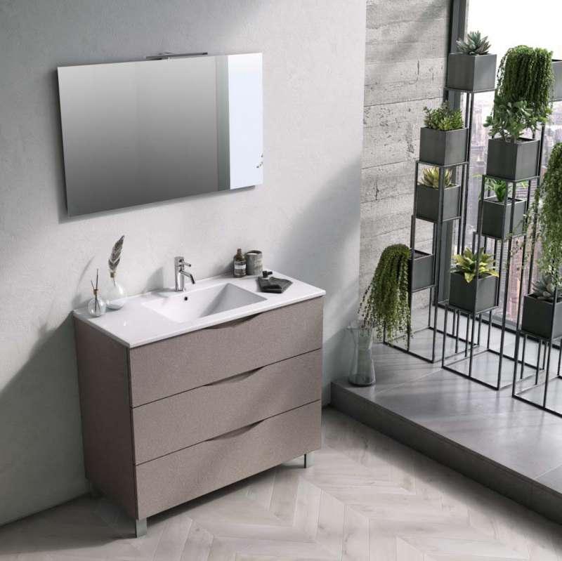 Set mobilier pentru baie Oslo Ecru 4 piese poza