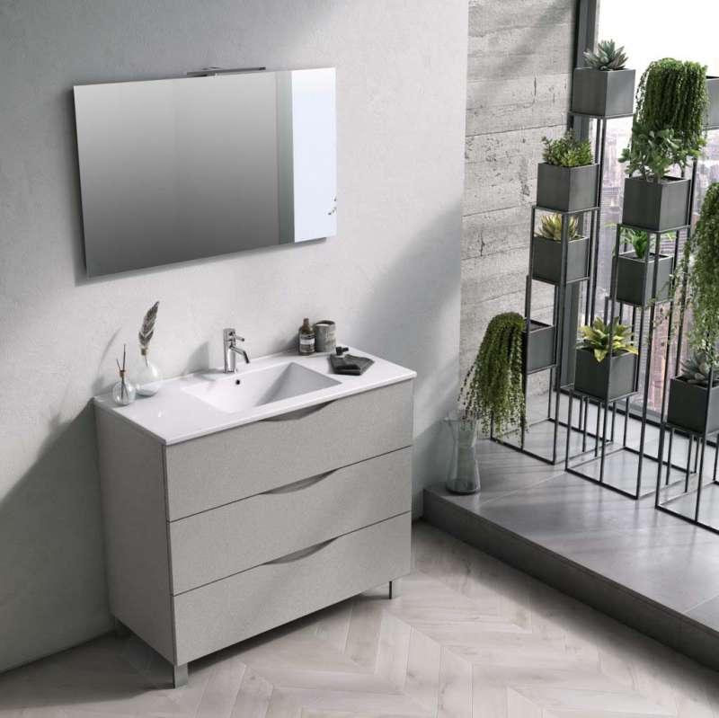 Set mobilier pentru baie Oslo White 4 piese poza