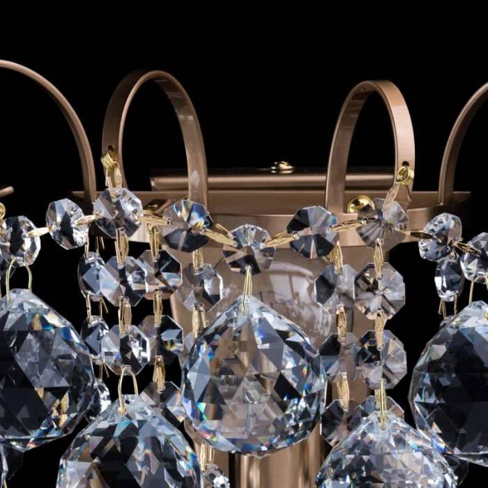 Aplică aurie cu cristale Elisabeta