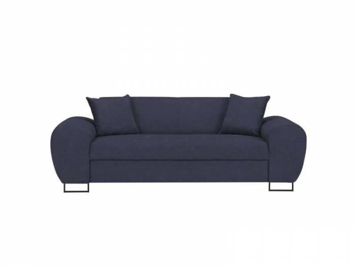 Canapea Piano, 3 locuri, albastru închis, 204x90x73,5 cm
