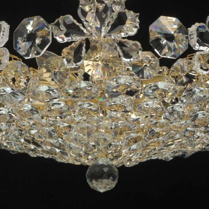 Candelabru auriu cu cristale Laura