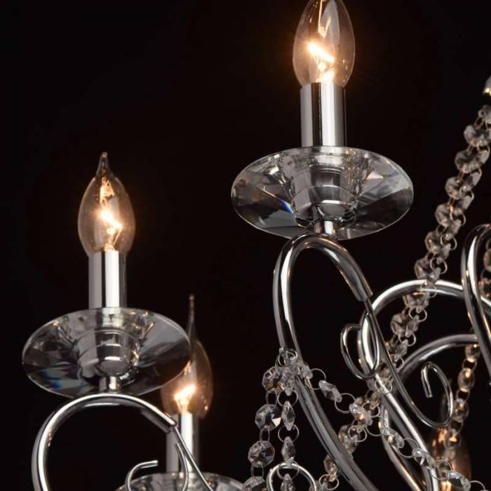 Candelabru clasic cu cristale Virgo