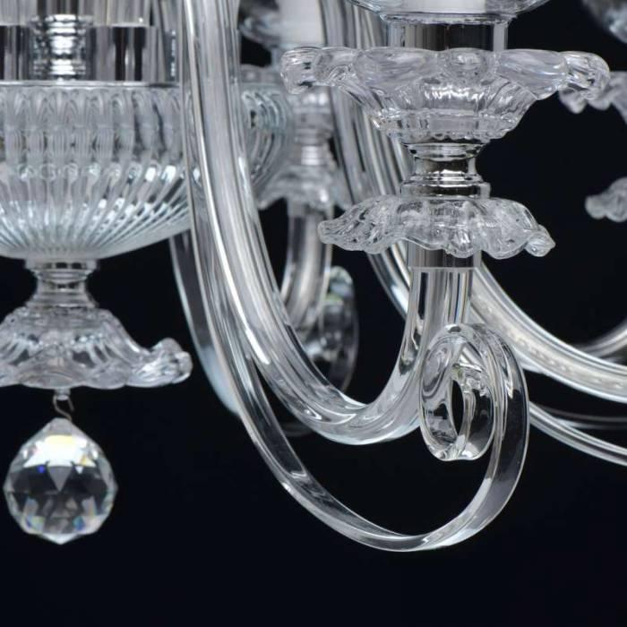 Candelabru din metal și sticlă Zarita