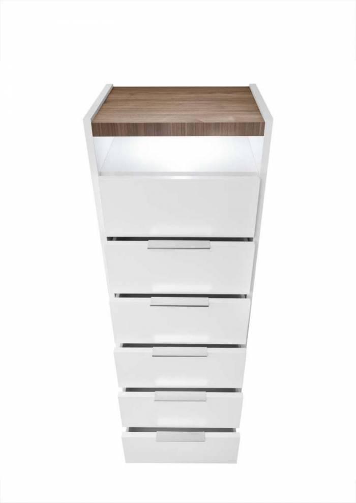 Comodă înaltă Senior, 137x40x51 cm, lemn, multicolor