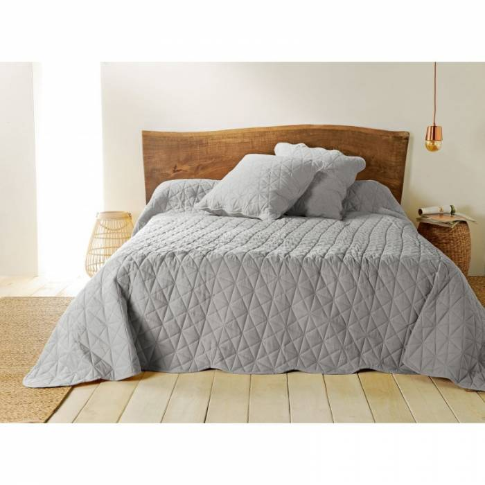 Cuvertură gri de pat Toscane 230x250 cm
