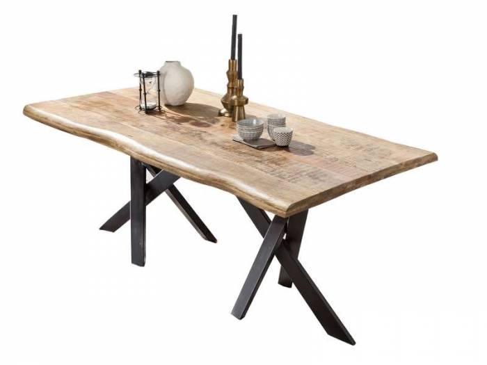 Masă de dining configurabilă Freya Mango, lemn/metal