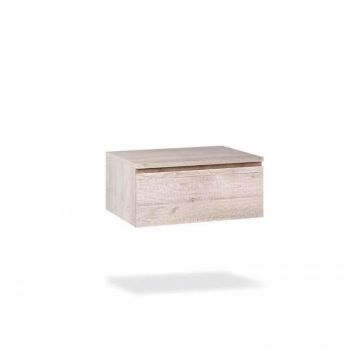 Set mobilier pentru baie Yoka 4 piese, 190x45x120 cm, melamina/ aluminiu/ abs/ sticlă/ ceramică/ metal, multicolor
