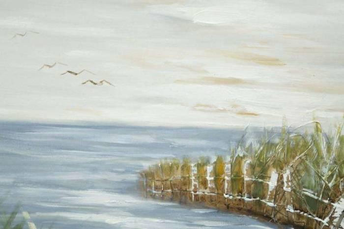 Tablou Mulino, 80x120x3.7 cm, lemn de pin/ plastic/ canvas, multicolor