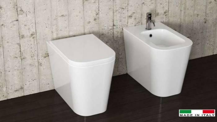 Toaletă Galaxy, 42x35x55 cm, ceramică, alb