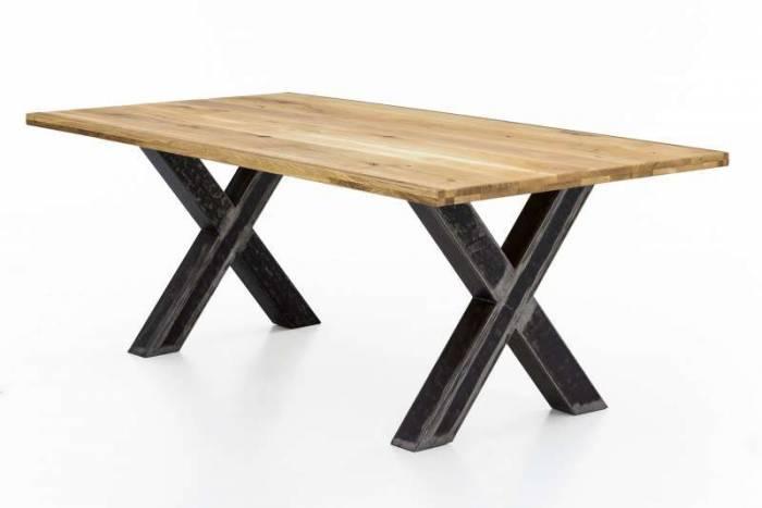 Masă de dining configurabilă Freya Wild Oak, lemn/metal