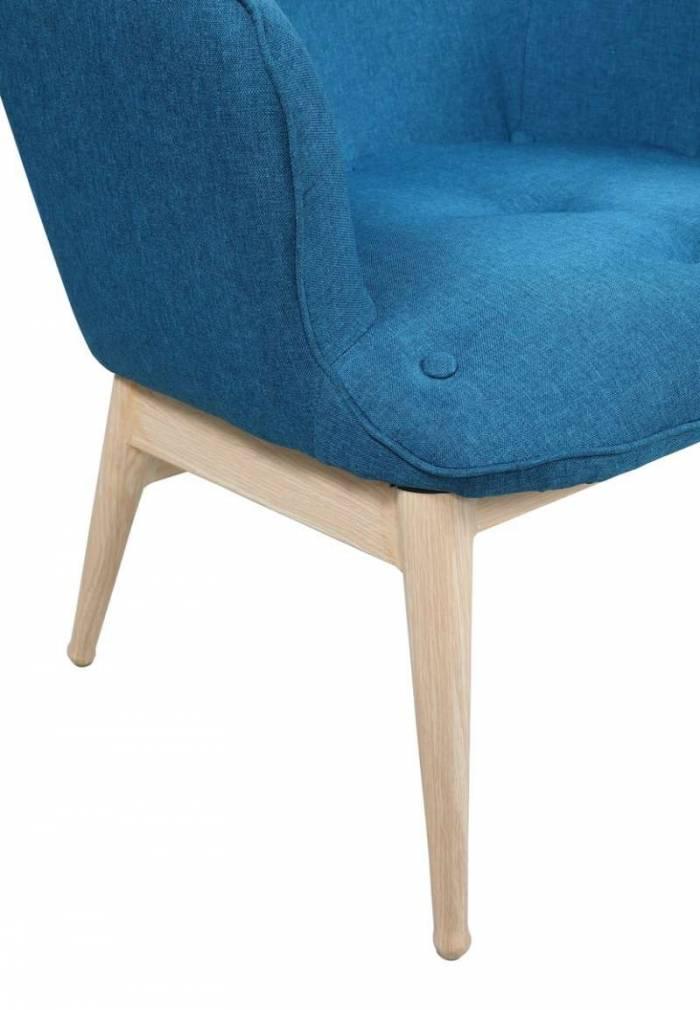 Fotoliu scandinav Olsen 98x71x87 cm, lemn/textil
