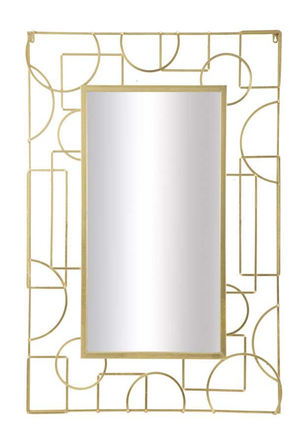 Oglindă de perete Marie, 120x80x6 cm, metal/ sticla, auriu poza