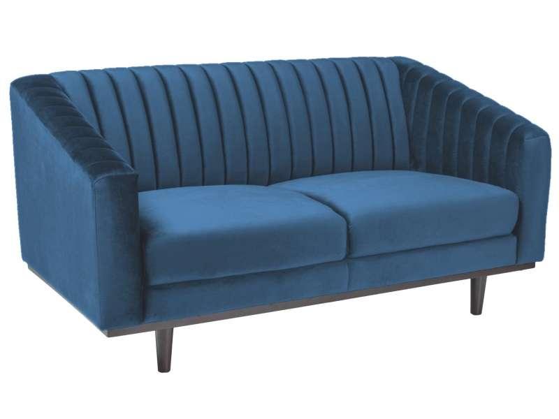 Canapea din catifea bleumarin Asprey 2 poza