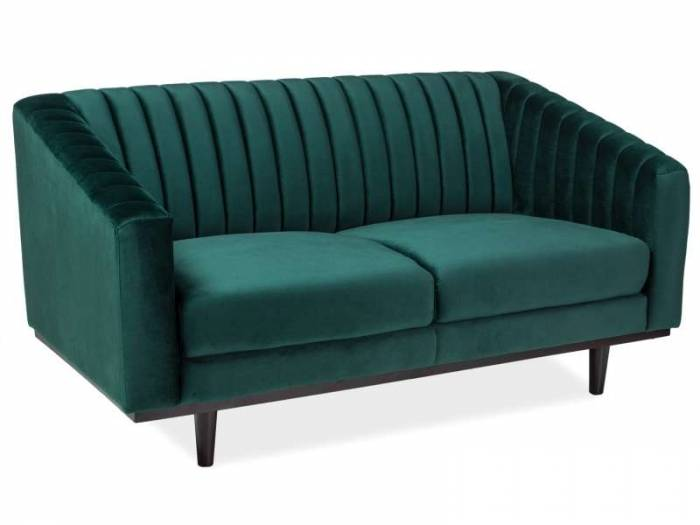 Canapea din catifea verde Asprey 2