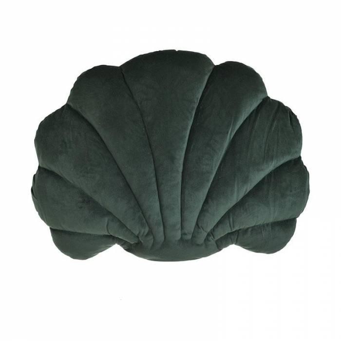 Pernă decorativă Shell Dark Green