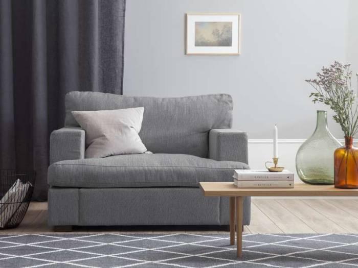 Fotoliu modern Daphne 105x104x85 cm, textil