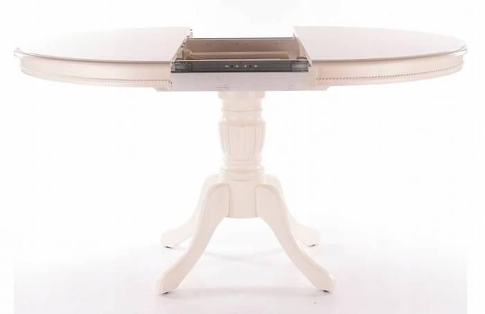 Masă de dining extensibilă Pienza 106/141x76 cm, lemn/MDF, Ecru
