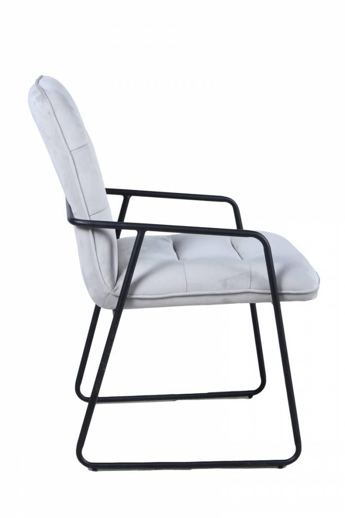 Set de 2 scaune de dining Oslo 88x52x66 cm, catifea/metal